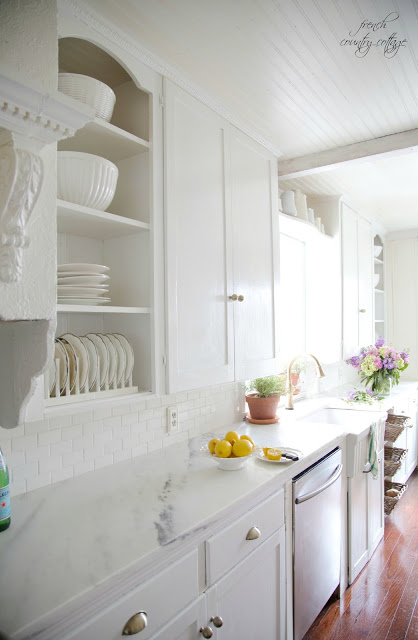 White Kitchen at French Country Cottage