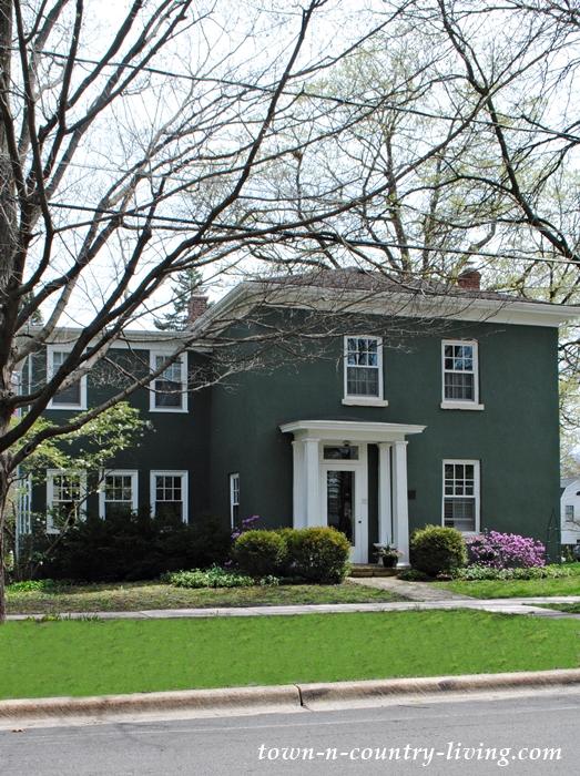 green stucco house, Geneva, Illinois