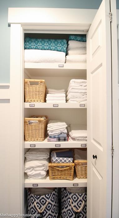 Linen Closet Organization by Happy Housie