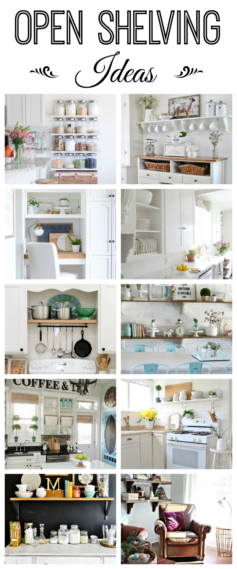 Open shelving ideas how to style town country living for Open storage ideas