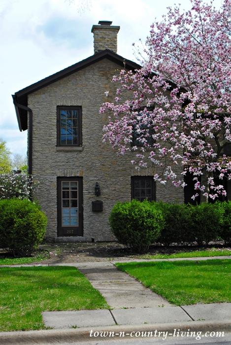 Historic Homes, Geneva, Illinois, stone house