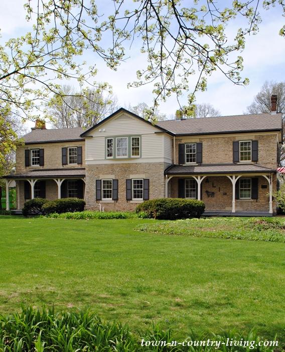 Historic Homes, Geneva, Illinois, stone house, front porch