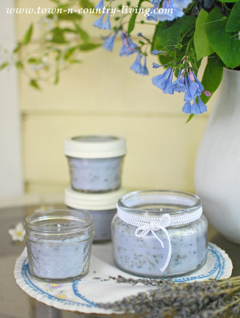 lavender candles, homemade gifts, gifts for her, scented candles