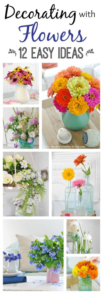 Decorating with Flowers, garden flowers, silk flowers, flower arrangements, decorating ideas