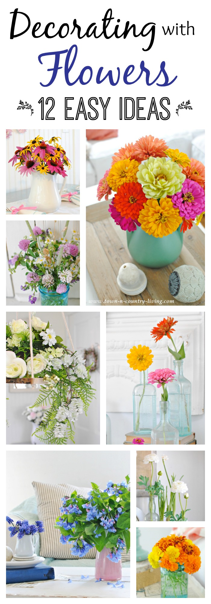Decorating With Flowers decorating with flowers: 12 easy ideas - town & country living