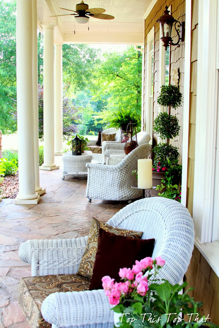 Summer porch inspiration town country living for Southern front porches