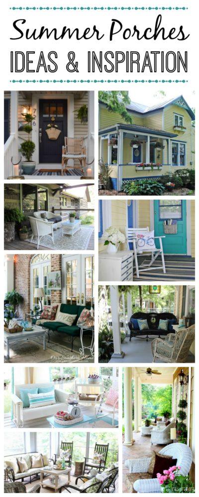 summer porch inspiration, farmhouse porch, outdoor living, porch ideas, outdoor decorating