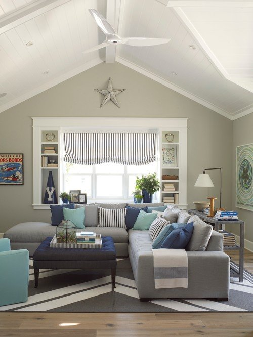 Blue and Gray Family Room