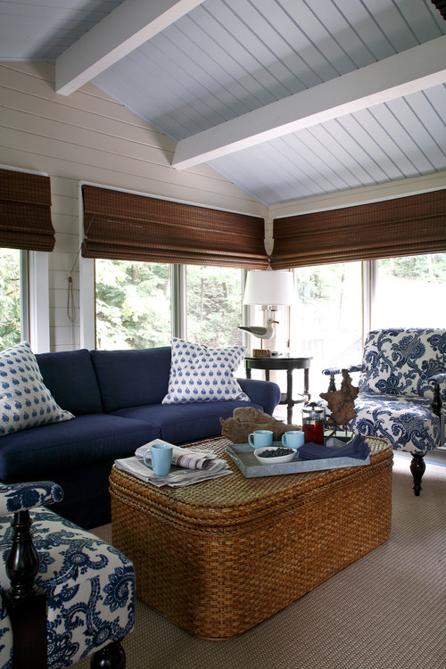 Beach Style Screened In Porch