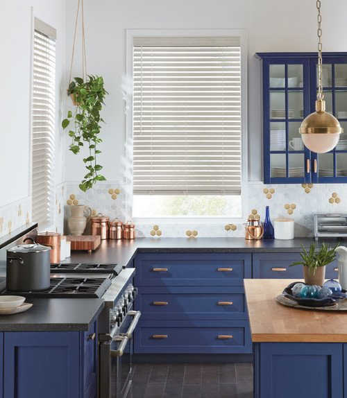 Blue and White Transitional Kitchen
