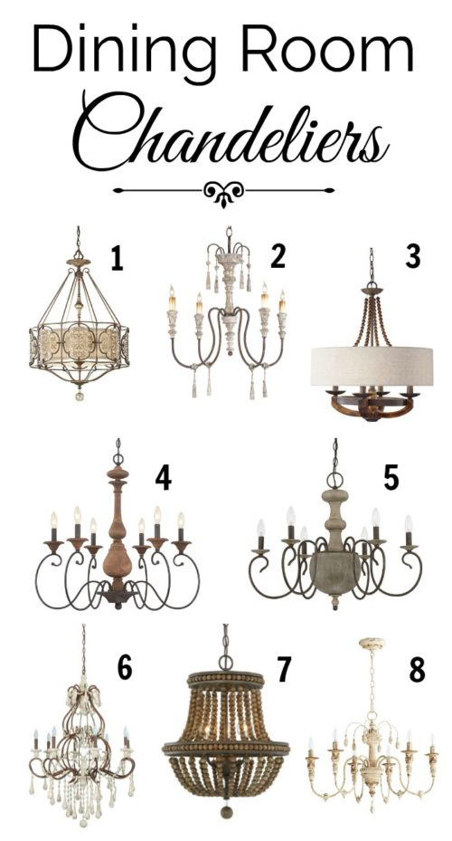 Farmhouse Dining Room Chandeliers