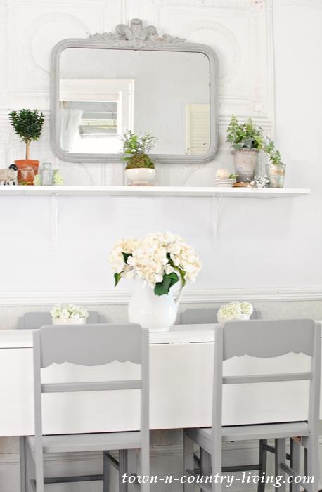 Farmhouse Shelf for a dining room redo