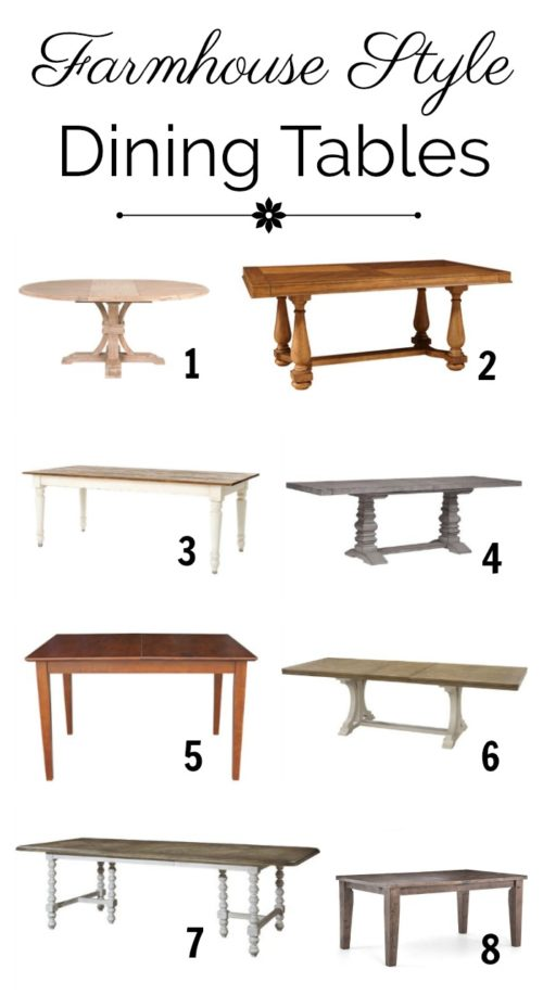 Collection of Practical Farmhouse Dining Tables