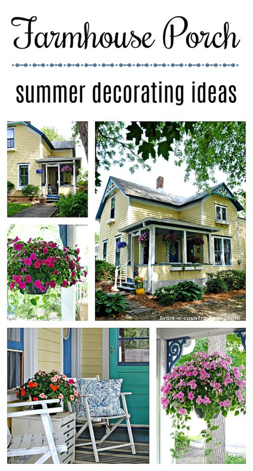 Summer decorating ideas for a farmhouse porch
