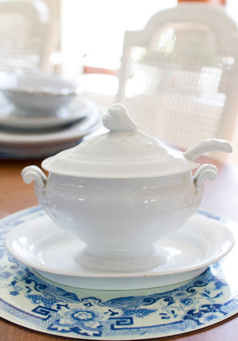 White ironstone soup tureen from Finding Silver Pennies