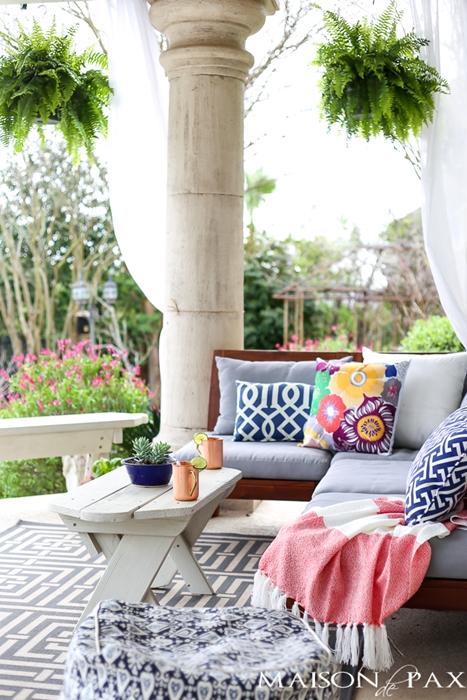 Outdoor Summer Patio by Maison de Pax
