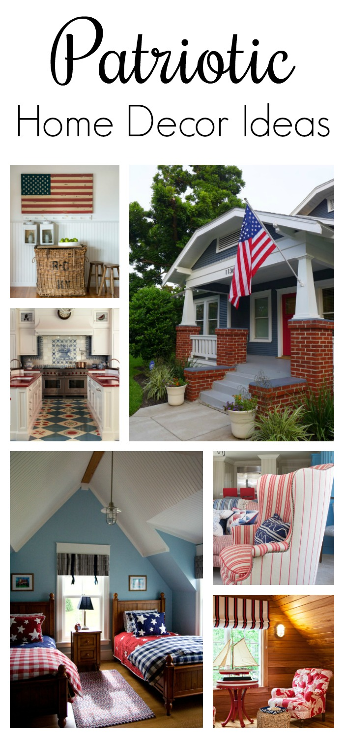 Decorating with red white and blue. You can see more inspirational patriotic home decor ideas ...  sc 1 st  Town u0026 Country Living & Patriotic Home Decor Ideas - Town u0026 Country Living