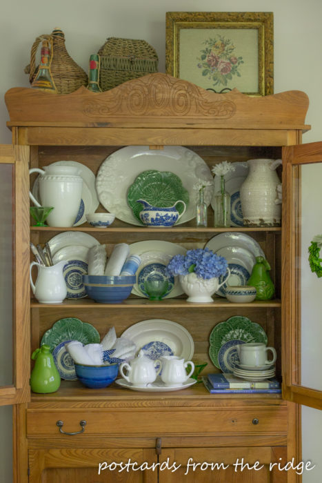 White Ironstone Display from Postcards from the Ridge