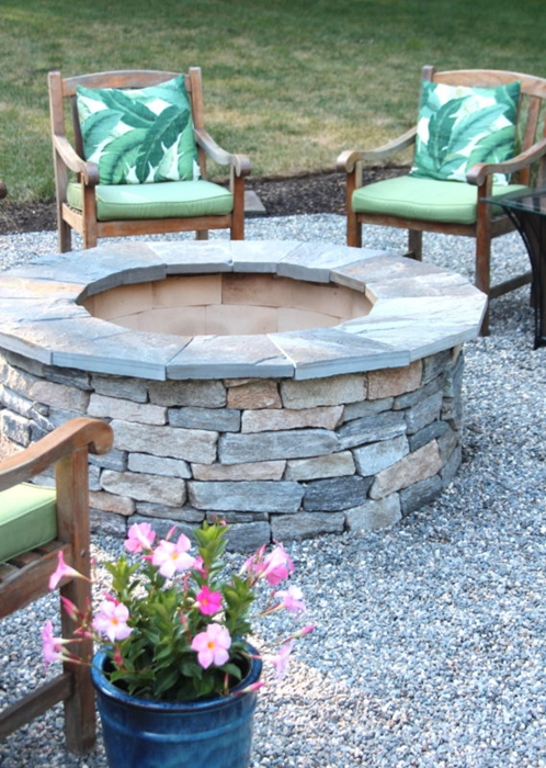 Fire Pit and Summer Patio by Shine Your Light