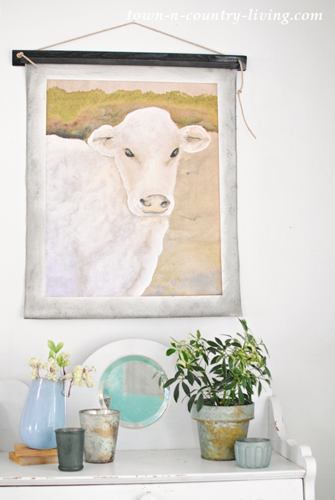 cow painting, summer decorating ideas