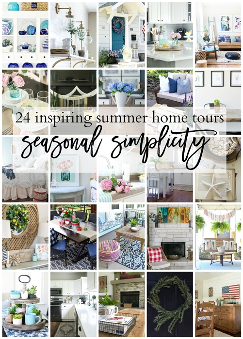 Summer Seasonal Simplicity, summer home tours