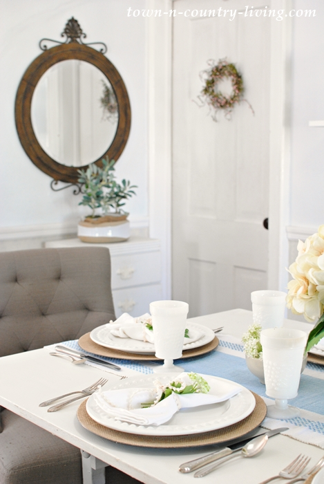 Country Style Summer Table Setting