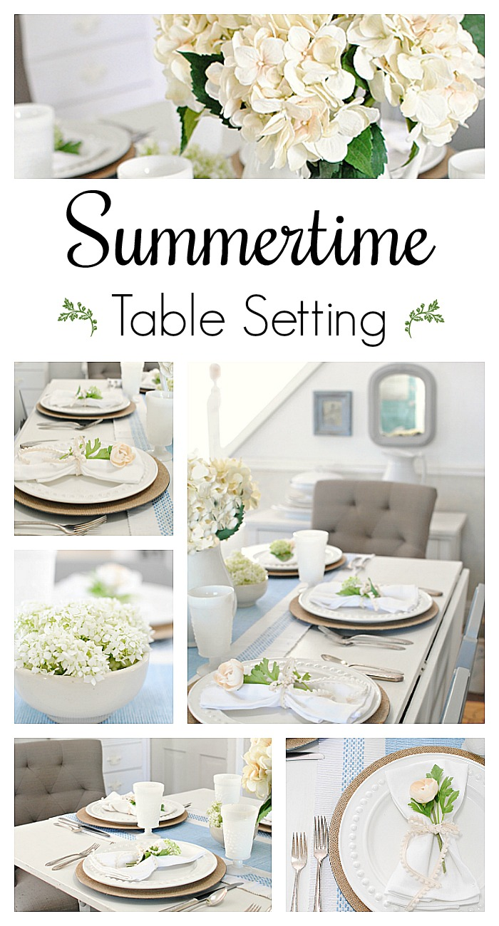 summer table setting for entertaining town country living