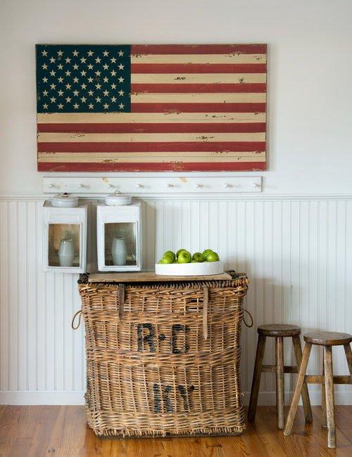 Patriotic Home Decor, wooden flag