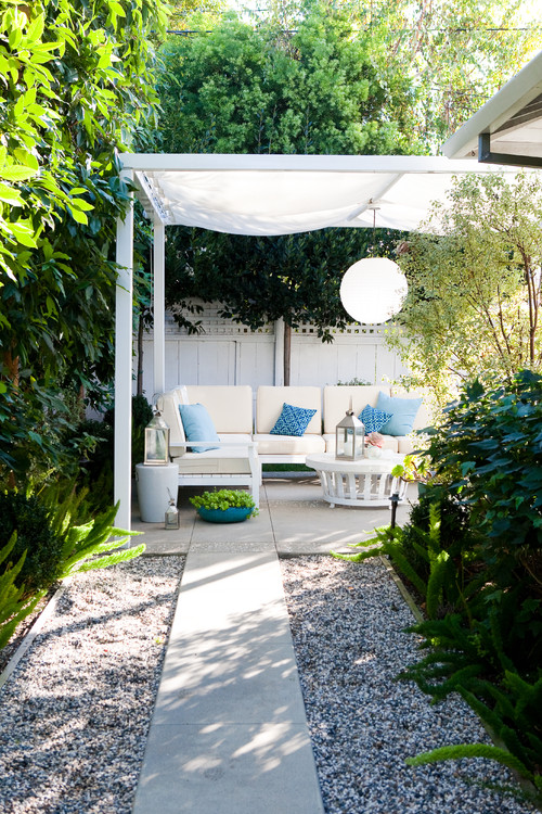 Light and Airy Covered Summer Patio