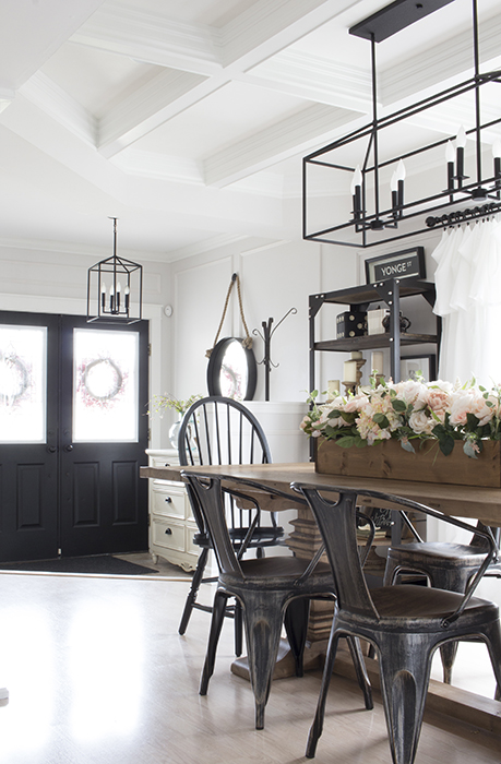 AKA Design dining room to entry