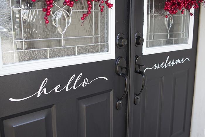 AKA Design hello welcome front doors