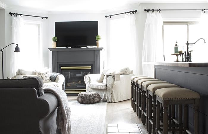 AKA Design tv fireplace wall