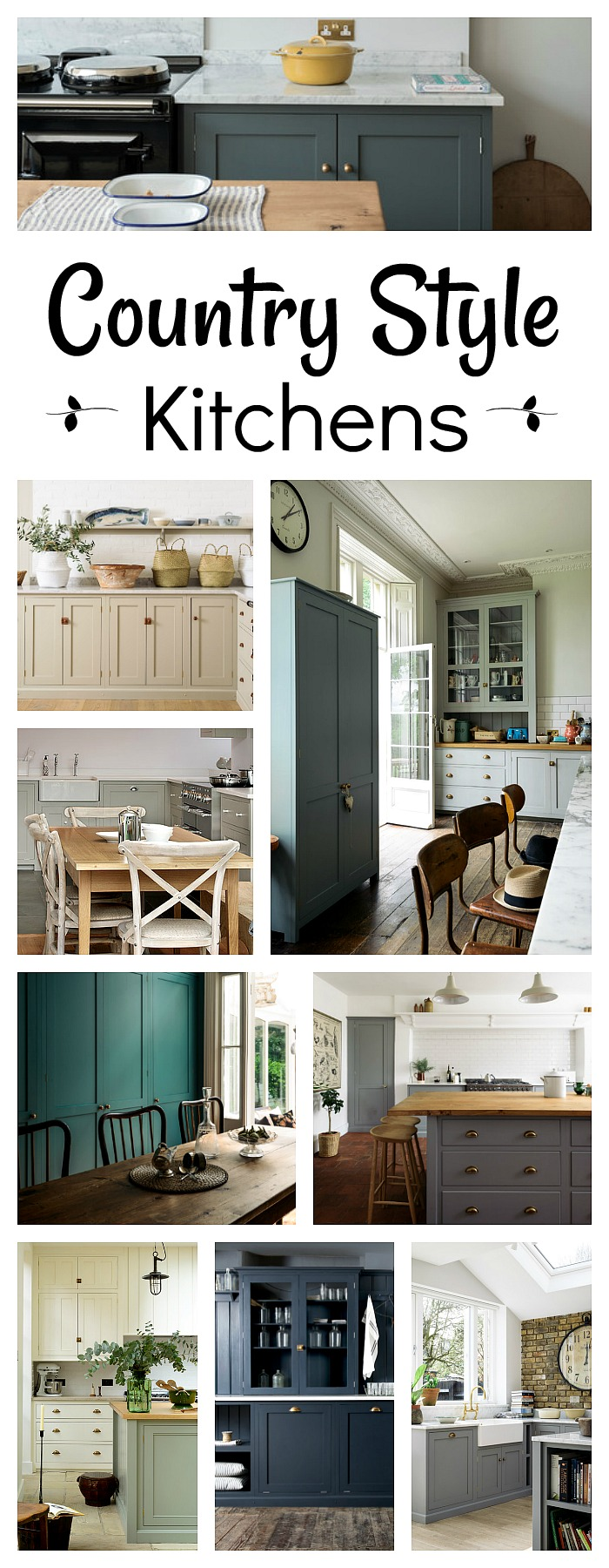 18 Country Style Kitchens