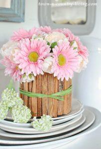 DIY Rustic Flower Vase