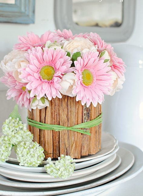 How to make a rustic flower vase