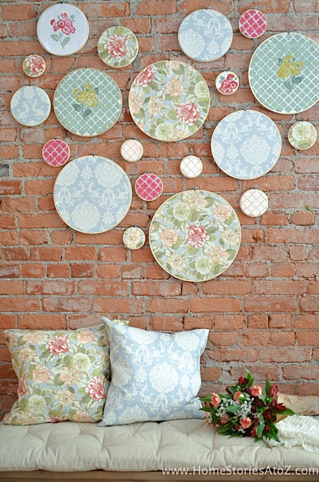 Embroidery wall art by Home Stories A to Z