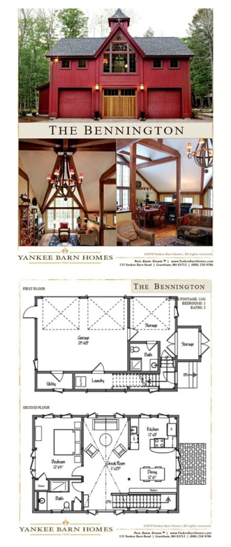 Yankee Barn Bennington Carriage House floor plan