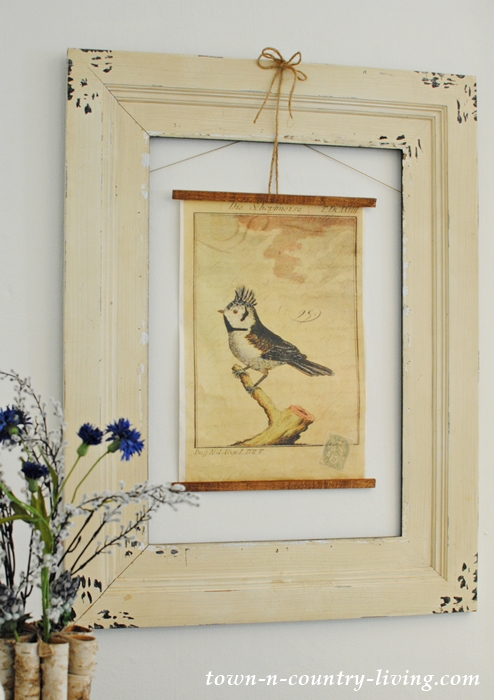 Vintage Poster Art with French Crowned Bird