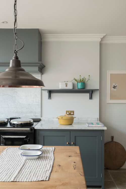 Gray Country Style Kitchen