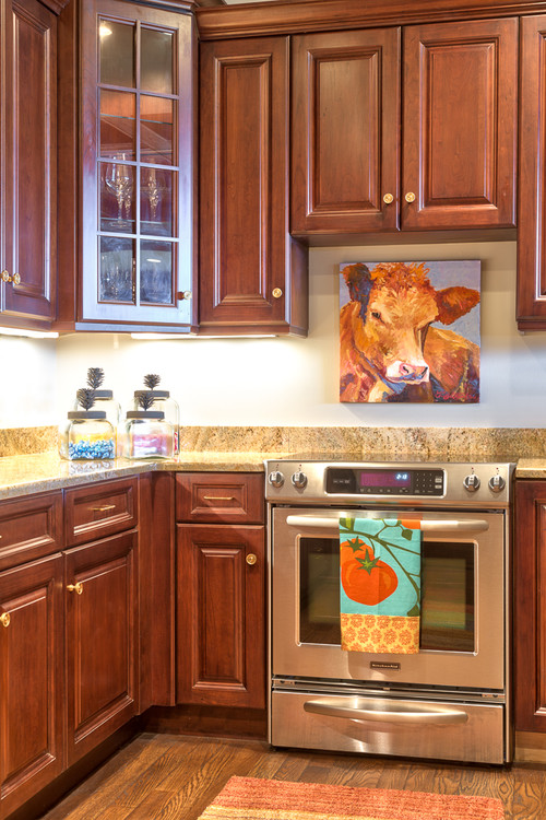 Farmhouse Kitchen with Country Cow Painting