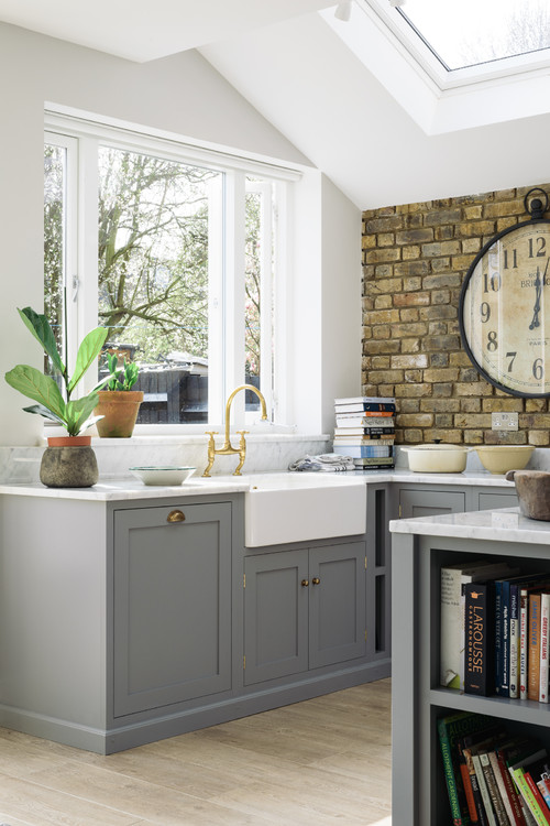 Gray and Neutral Country Kitchen
