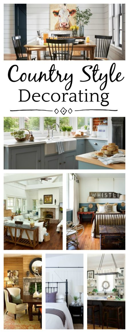 Country style decorating for every room in the house