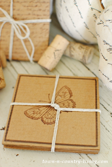 DIY Recycled Cardboard Coasters to Give as a Gift or Keep for Your Own