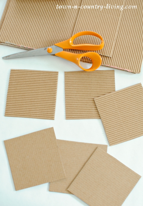 Supplies for recycled cardboard coasters