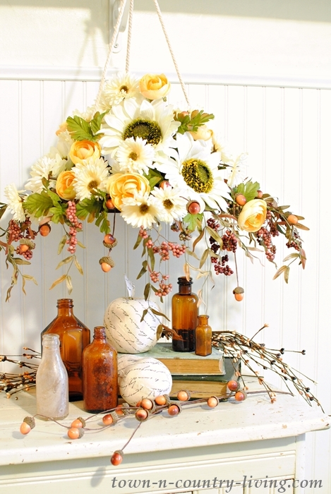 Fall floral chandelier make your own town country living diy floral chandelier aloadofball Image collections
