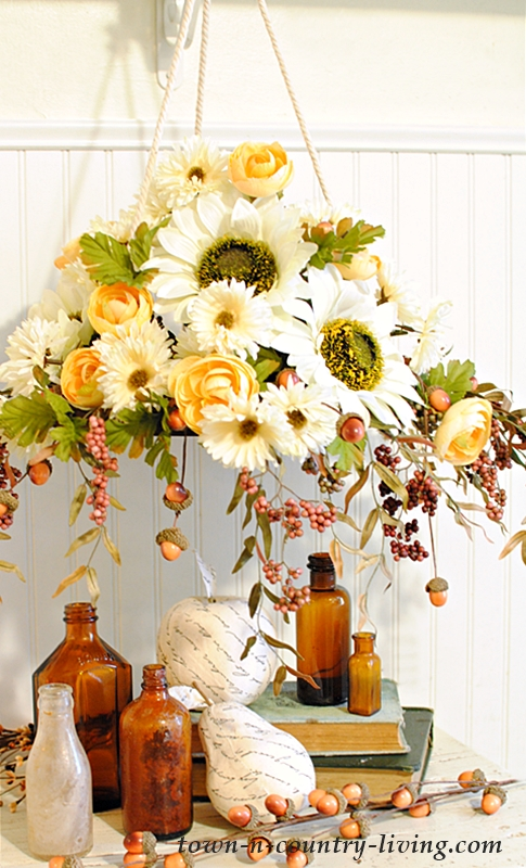 Fall Floral Chandelier
