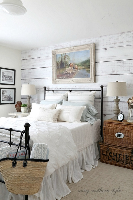Beautiful bedrooms to dream in town country living for Farmhouse guest bedroom