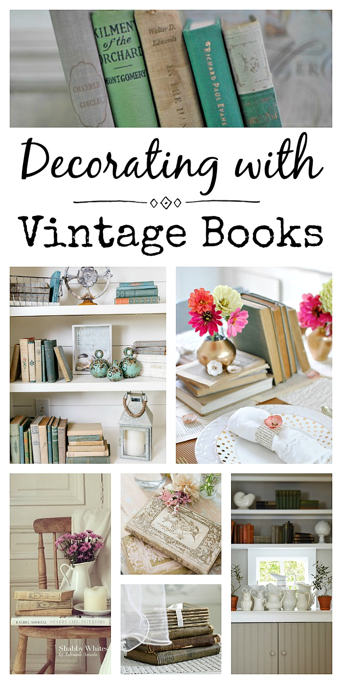 How To Decorate With Vintage Books Town Country Living