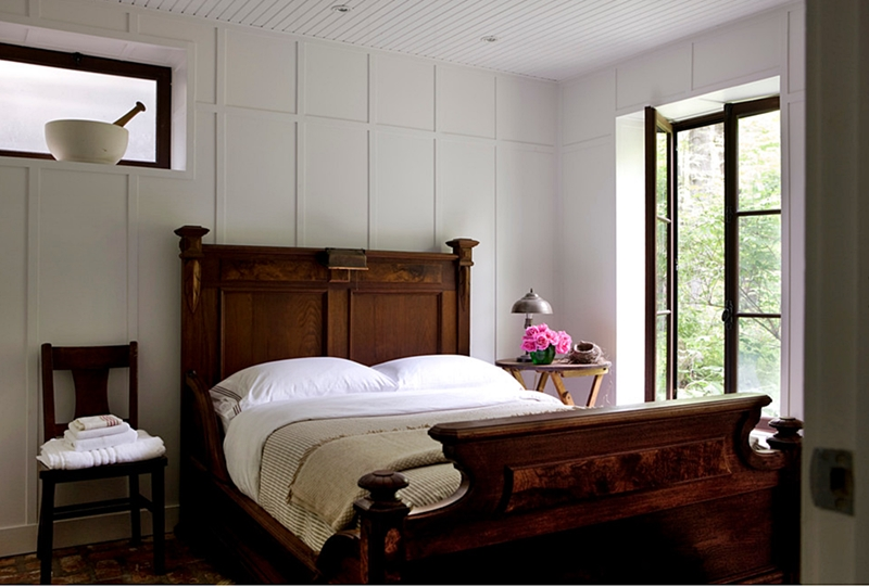 Country Style Bedroom with Antique Bed