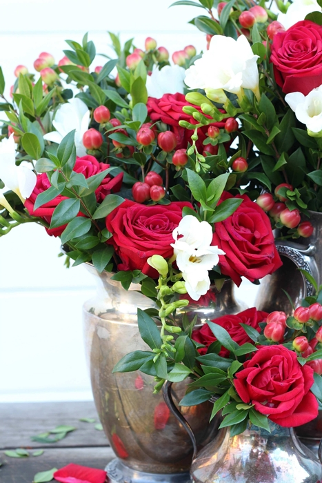 Rose arrangement by Kelly Wilkness, author of A Year in Flowers